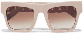 Stella McCartney Oversized Square-frame Acetate And Rose Gold-tone Sunglasses
