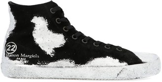 Maison Margiela Paint Effect Tabi Sneakers