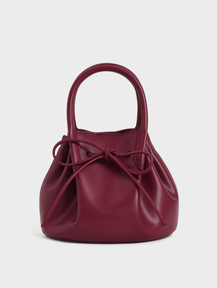 Charles & Keith Drawstring Top Handle Bag