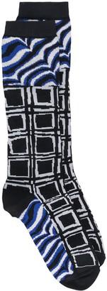 Marni Square Pattern Socks