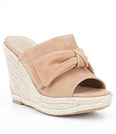 GUESS Hot Love Bow Detail Wedge Sandals