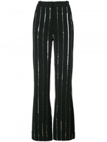 Thierry Mugler silver stripe palazzo pants