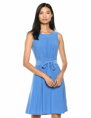 Chaps Women's Tie-Front Fit & Flare Jersey Dress