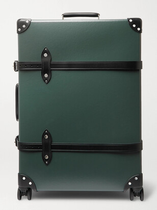"Globe-trotter No Time to Die 30 Leather-Trimmed Trolley Case"" - Men - Green"