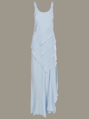 Max Mara Long Dress With Symmetrical Panels
