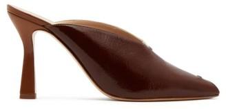 Wandler Niva Bi-colour Leather Mules - Womens - Brown Multi