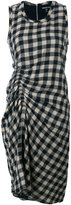 James Perse gathered checked dress