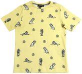 Roberto Cavalli Lion Printed Cotton Jersey T-Shirt