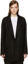 Isabel Marant Black Wool Ilaria Tweedy Coat