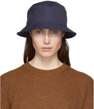 Acne Studios Navy Cotton Canvas Bucket Hat