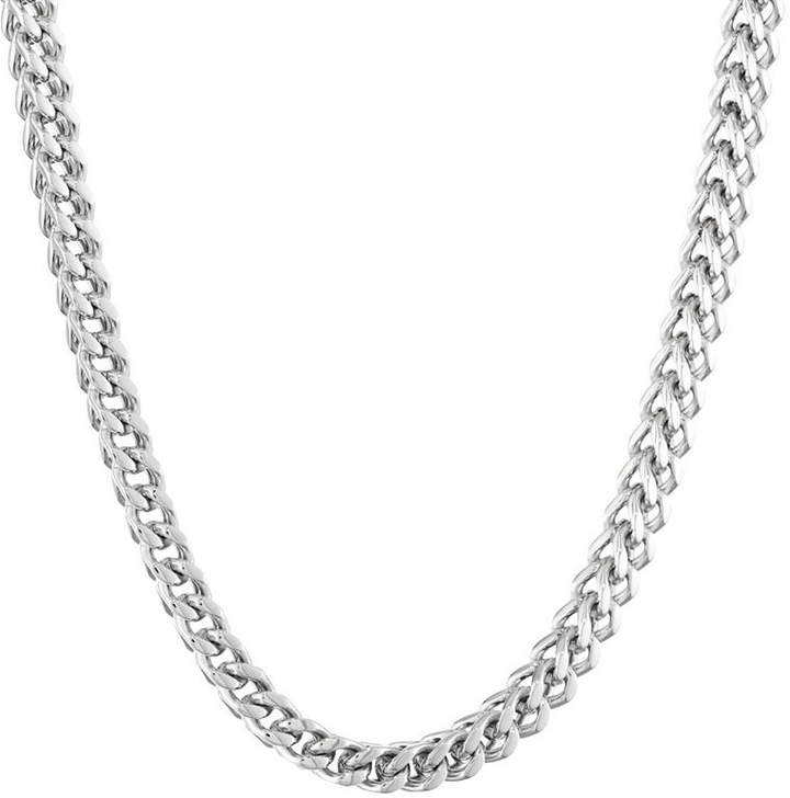 JCPenney FINE JEWELRY Mens Stainless Steel 24 6mm Foxtail Chain