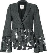 Sea flower-embroidered blazer - women - Cotton/Polyester - XS