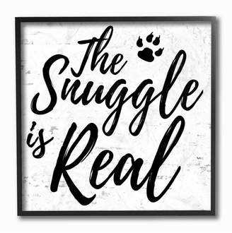 """Stupell Industries The Snuggle Is Real Dog Framed Giclee Art, 12"""" x 12"""""""