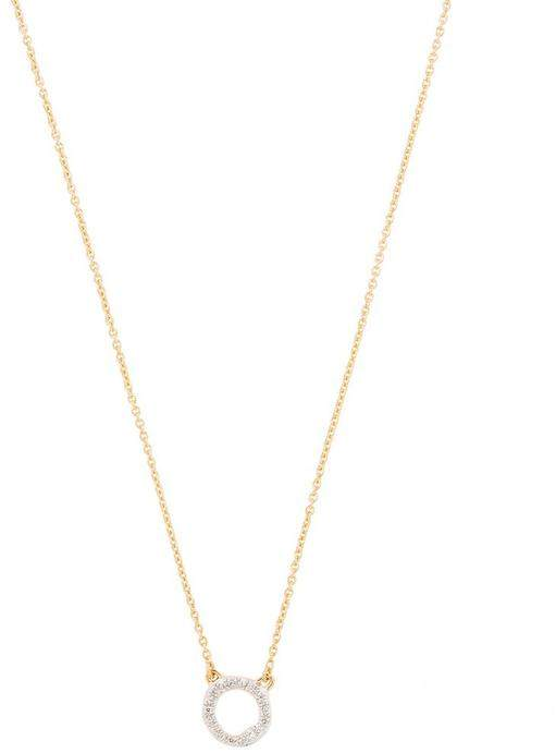 Monica Vinader Gold-Plated Riva Diamond Circle Necklace