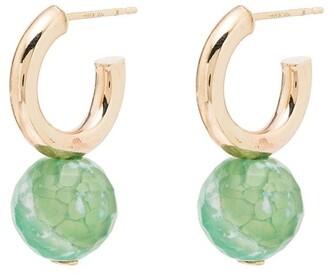 Loren Stewart 10kt Gold Agate Drop Earrings