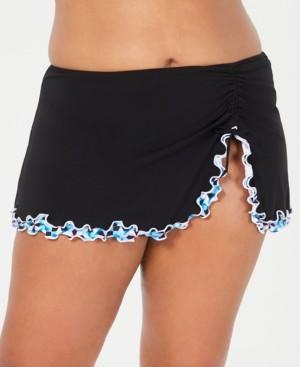 Gottex Profile by Gotex Plus Size Pin Wheel Ruffled Swim Skirt Women's Swimsuit