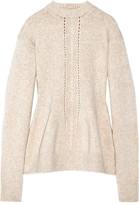 Joseph Split-back Wool-blend Sweater - Beige