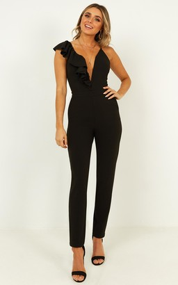 Showpo Jump in jumpsuit in black - 20 (XXXXL) Fitted Jumpsuits