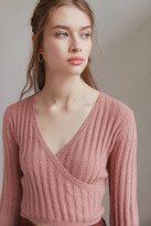 Urban Outfitters Cora Cozy Surplice Cropped Sweater