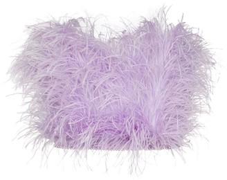 ATTICO Ostrich Feather Bandeau Top