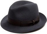 Borsalino Brushed-felt trilby hat