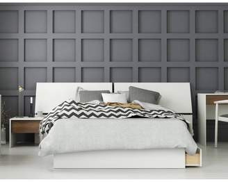 Modus Designs Nexera 3pc Full Bedroom Set Walnut/White