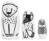 Wee Gallery Black & White Animals Nesting Dolls - Forest Friends
