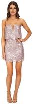 BCBGMAXAZRIA Kate Sequined Strapless Dress