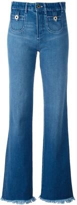 Chloé Frayed Hem Jeans