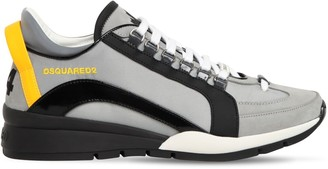 DSQUARED2 Reflective 551 Leather & Nylon Sneakers