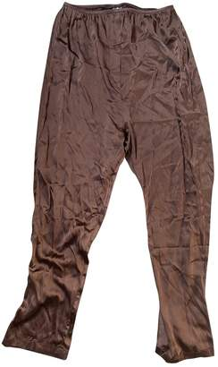 Base Range Brown Silk Trousers