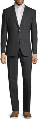 Versace Modern-Fit Plaid Wool Suit