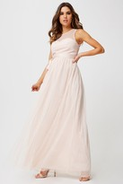 Little Mistress Delphi Sweetheart Mesh Maxi Dress