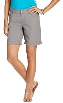 "LOFT Boyfriend Cotton Poplin Shorts with 10 1/2"" Inseam"