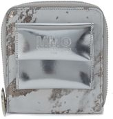 MM6 MAISON MARGIELA Silver And White Leather Wallet