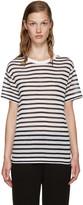Alexander Wang Blue & Ivory Striped T-Shirt