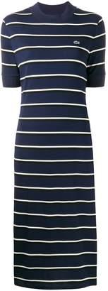 Lacoste Live striped knit sweat dress