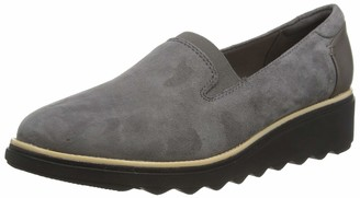 Clarks Sharon Dolly Slipper Women's Grey (Grey Suede Grey Suede) 37 EU