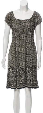 Max Studio Short Sleeve Printed Dress