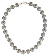Movado Hematite Bead Strand Necklace
