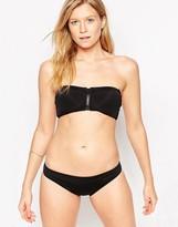 Goddiva Zip Detail Bikini Set