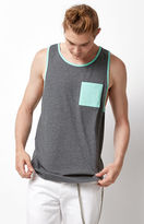 On The Byas Contrast Pocket Grey Tank Top