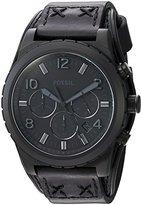 Fossil Mens CH3067 Oakman Chronograph Black Leather Watch