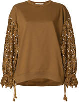See by Chloe laser cut sleeve sweatshirt