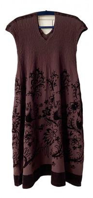 Issey Miyake Brown Velvet Dresses