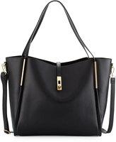 Neiman Marcus Abigail Faux-Leather Tote Bag, Black