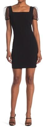 BCBGeneration Sheer Sleeve Bodycon Dress