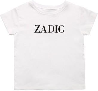 Zadig & Voltaire Logo Printed Cotton Jersey T-shirt