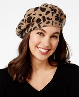 INC International Concepts Leopard-Print Beret, Only at Macy's