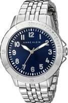 Anne Klein Women's AK/2061NVSV Easy To Read Dial Silver-Tone Bracelet Watch